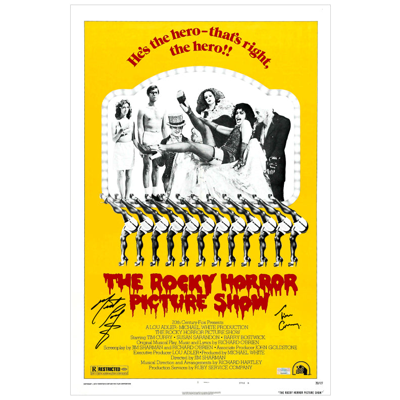 Tim Curry, Meat Loaf Autographed The Rocky Horror Picture Show 16x24 Poster