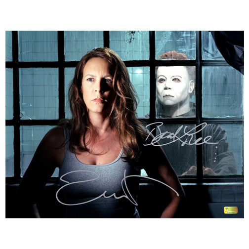 Jamie Lee Curtis and Brad Loree Autographed Halloween Resurrection 11x14 Photo