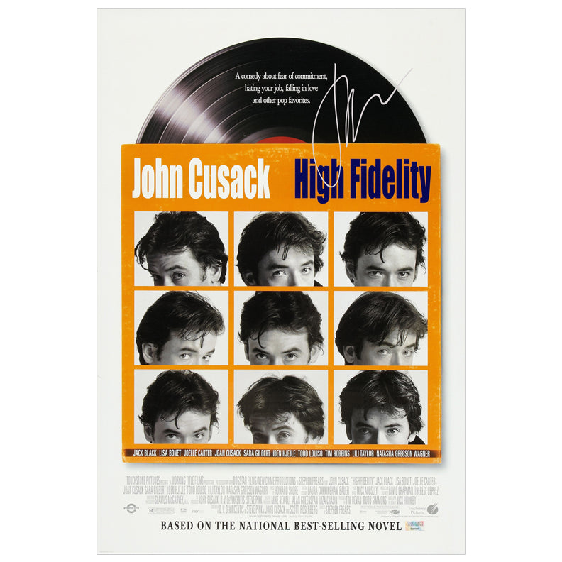 John Cusack Autographed High Fidelity 16×24 Poster
