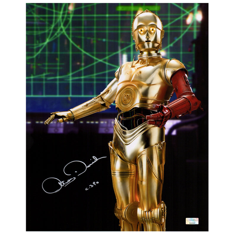 Anthony Daniels Autographed Star Wars: The Force Awakens C-3PO 11x14 Metallic Photo