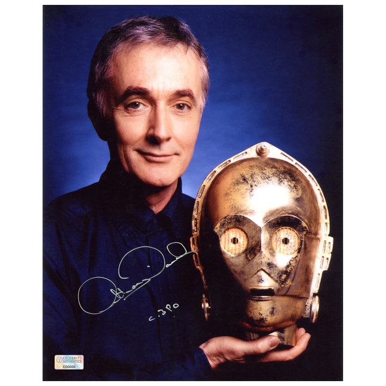 Anthony Daniels Autographed Star Wars C-3PO 8x10 Portrait Photo