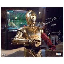Load image into Gallery viewer, Anthony Daniels Autographed Star Wars: The Force Awakens C-3PO D'Qar Rebel Base 8×10 Photo