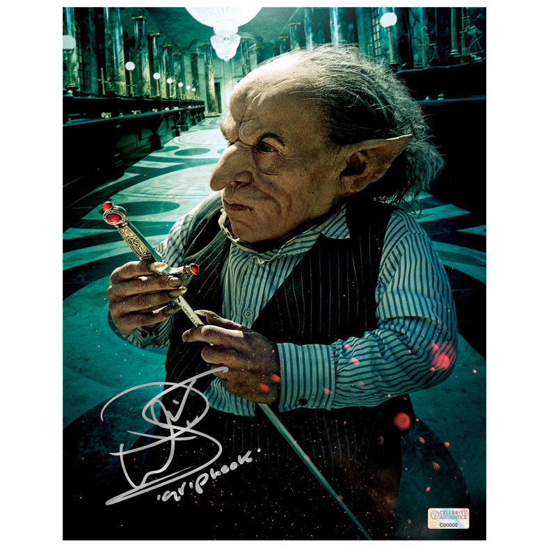 Warwick Davis Autographed Harry Potter Griphook 8x10 Photo