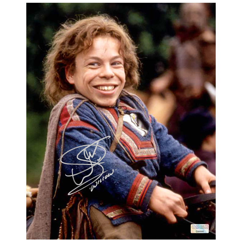 Warwick Davis Autographed Willow 8x10 Close Up Photo
