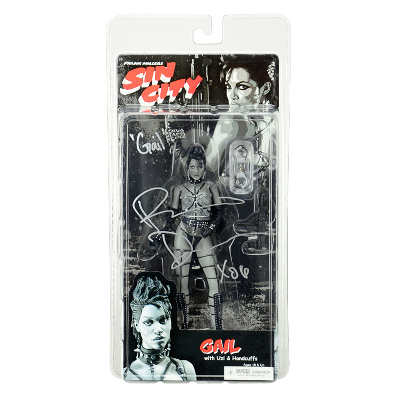Rosario Dawson Autographed Sin City Gail Black and White Action Figure