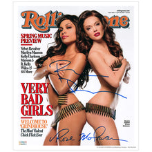 Load image into Gallery viewer, Rosario Dawson and Rose McGowan Autographed Rolling Stone Cover 11×13 Photo