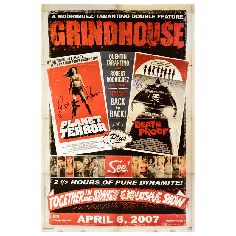 Rosario Dawson and Rose McGowan Autographed Grindhouse 24×36 Poster