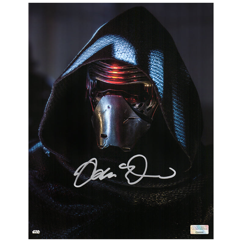 Adam Driver Autographed Star Wars Kylo Ren 11x14 Close Up Photo