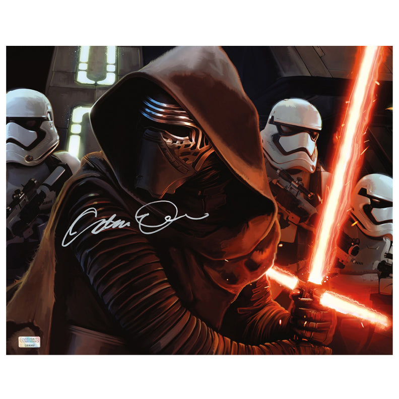 Adam Driver Autographed Star Wars The Force Awakens First Order 16x20 Photo