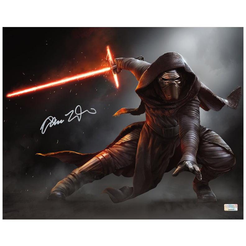 Adam Driver Autographed Star Wars The Force Awakens Kylo Ren Jedi Killer 16x20 Photo