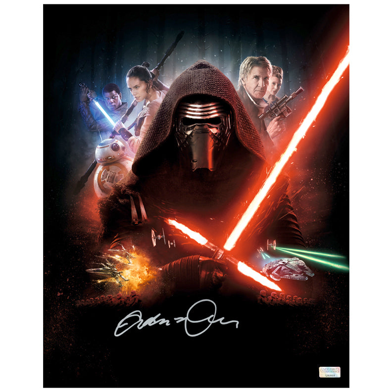 Adam Driver Autographed Star Wars The Force Awakens 16x20 Photo