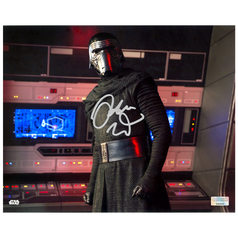 Adam Driver Autographed Star Wars The Force Awakens Kylo Ren Command Center 8×10 Photo