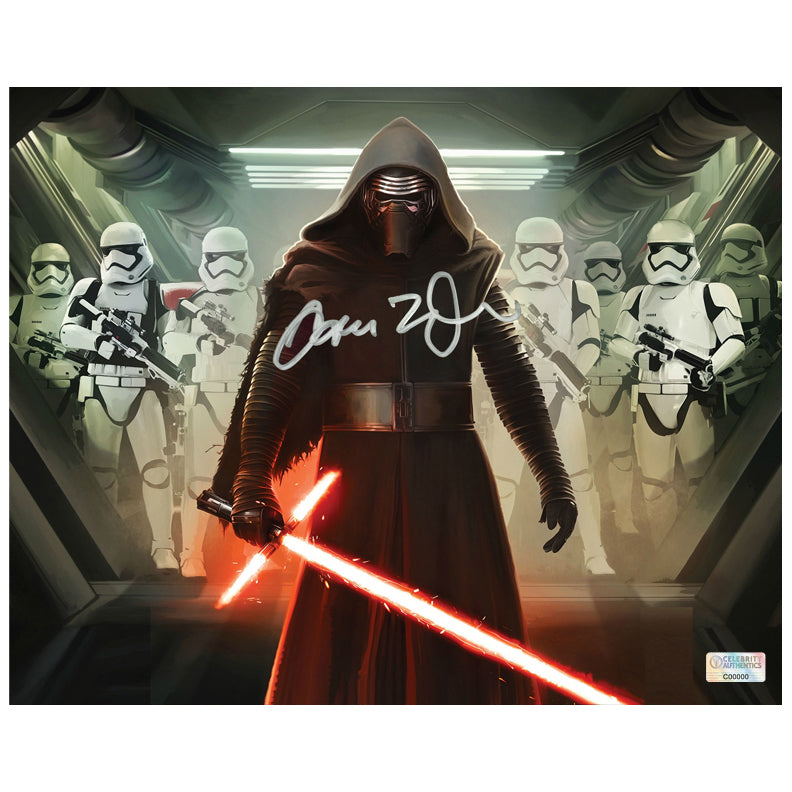 Adam Driver Autographed Star Wars: The Force Awakens Kylo Ren First Order Commander 8x10 Photo