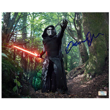 Load image into Gallery viewer, Adam Driver Autographed Star Wars: The Force Awakens Kylo Ren in the Forest of Takodana 8x10 Photo