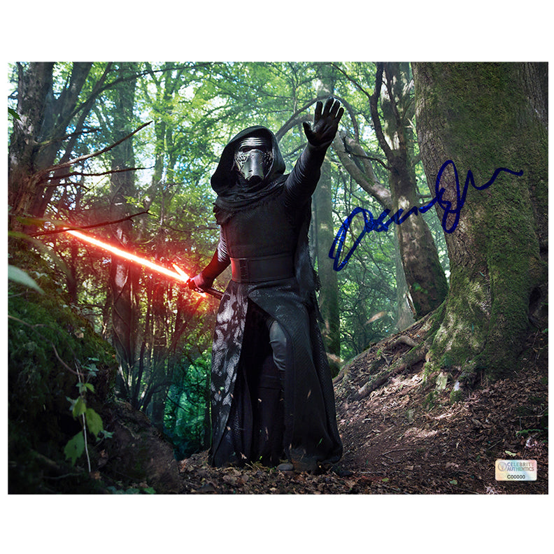 Adam Driver Autographed Star Wars: The Force Awakens Kylo Ren in the Forest of Takodana 8x10 Photo