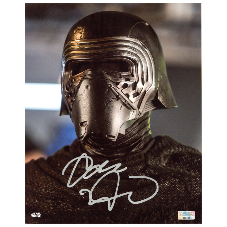 Adam Driver Autographed Star Wars Kylo Ren 8×10 Close Up Photo