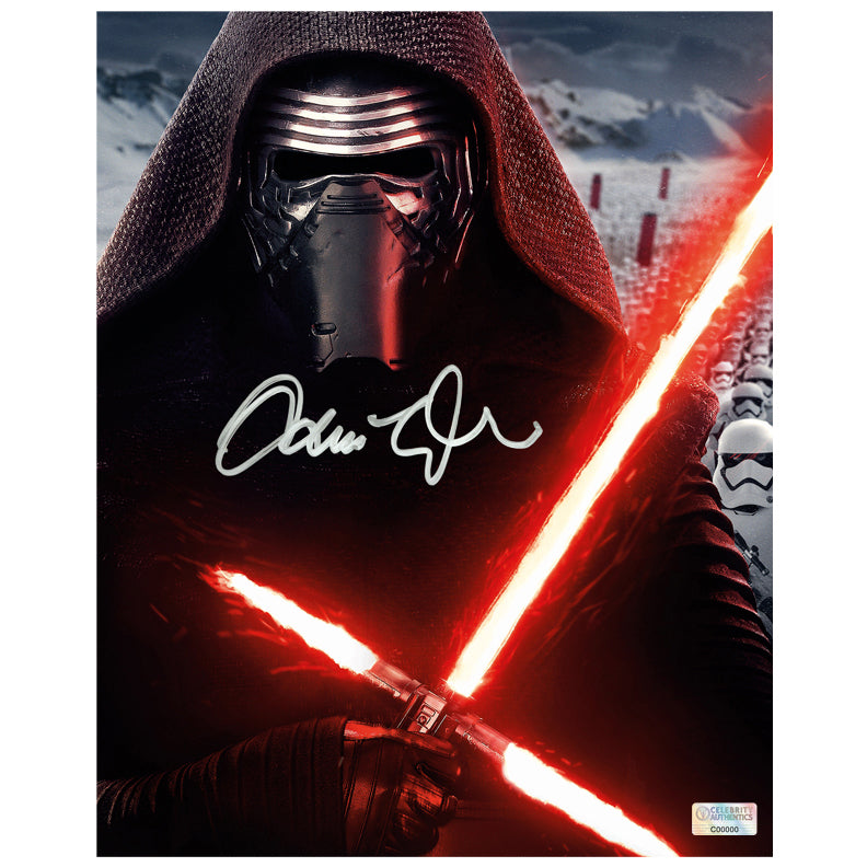 Adam Driver Autographed Star Wars The Force Awakens Kylo Ren 8×10 Portrait Photo