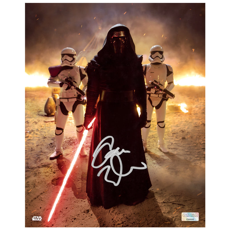 Adam Driver Autographed Star Wars The Force Awakens Kylo Ren First Order Commander 8×10 Photo