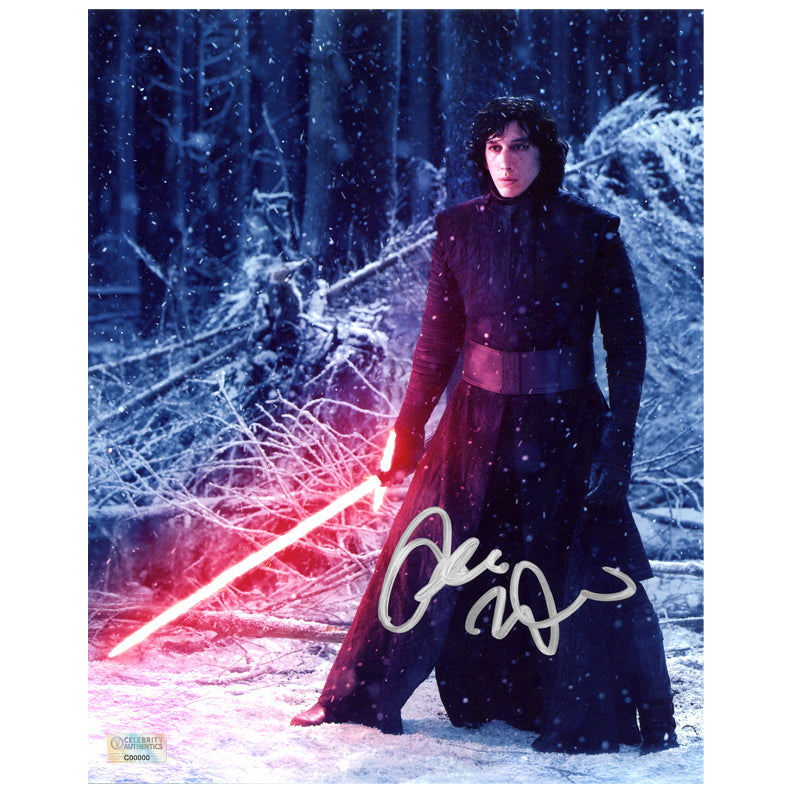 Adam Driver Autographed Star Wars: The Force Awakens Starkiller Unmasked 8x10 Photo