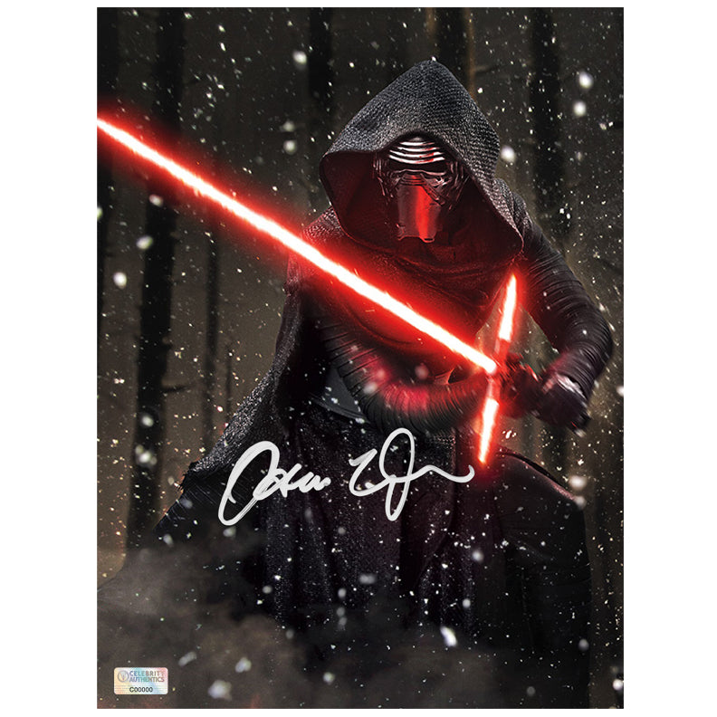 Adam Driver Autographed Star Wars: The Force Awakens Kylo Ren Starkiller Base 8x10 Photo
