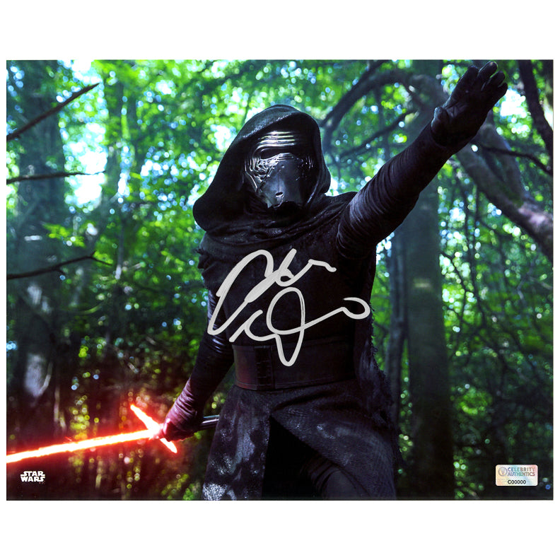 Adam Driver Autographed Star Wars The Force Awakens Takodana 8×10 Scene Photo