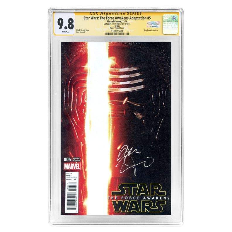 Adam Driver Autographed Star Wars: The Force Awakens #005 CGC SS 9.8 Photo Variant Cover