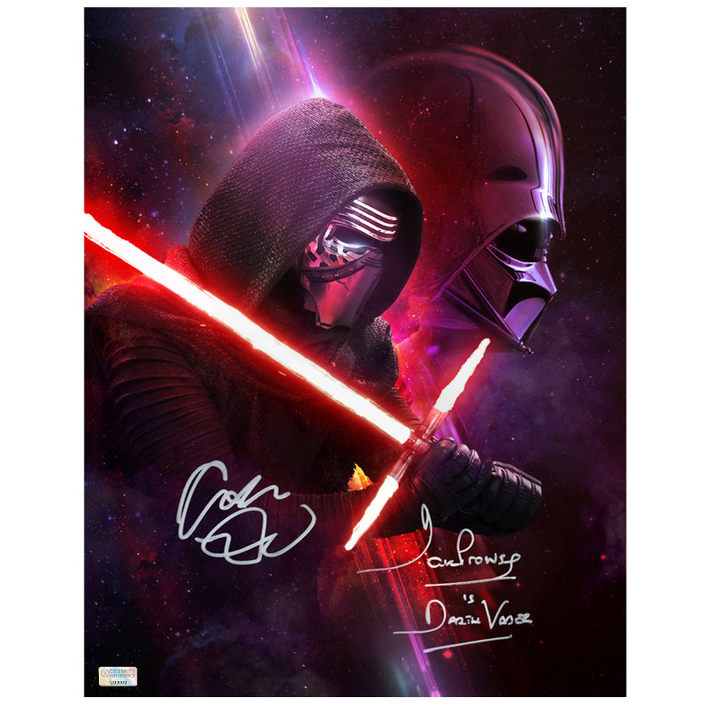 Adam Driver and David Prowse Autographed Star Wars Legacy 11x14 Photo