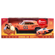Load image into Gallery viewer, The Dukes of Hazzard Cast Autographed Die-Cast 1:18 General Lee