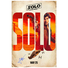 Load image into Gallery viewer, Alden Ehrenreich Autographed 2018 Han Solo Original 27x40 Double-Sided Movie Poster