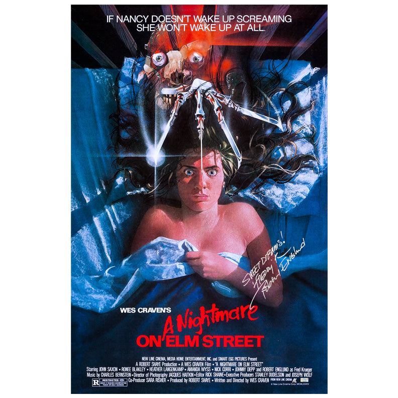 Robert Englund Autographed A Nightmare on Elm Street 27×40 Single-Sided Movie Poster