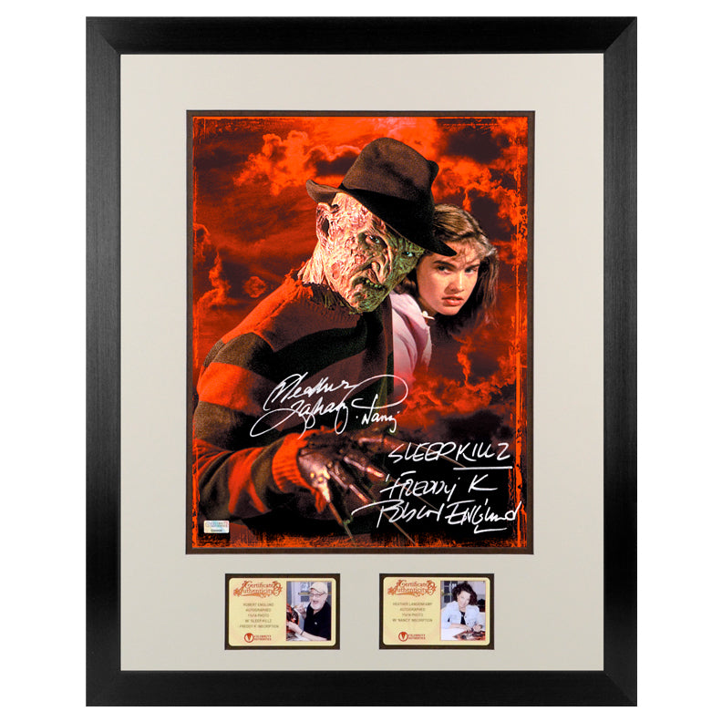 Robert Englund, Heather Langenkamp Autographed A Nightmare on Elm Street Freddy Krueger 11x14 Framed Photo