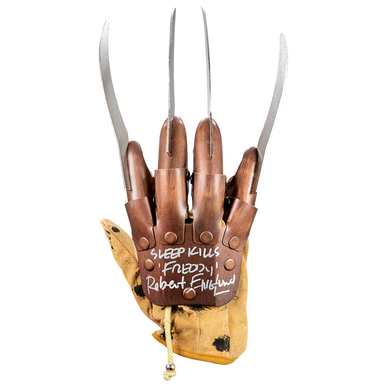 Robert Englund Autographed A Nightmare on Elm Street Freddy Krueger Glove with 'Sleep Kills' Inscription