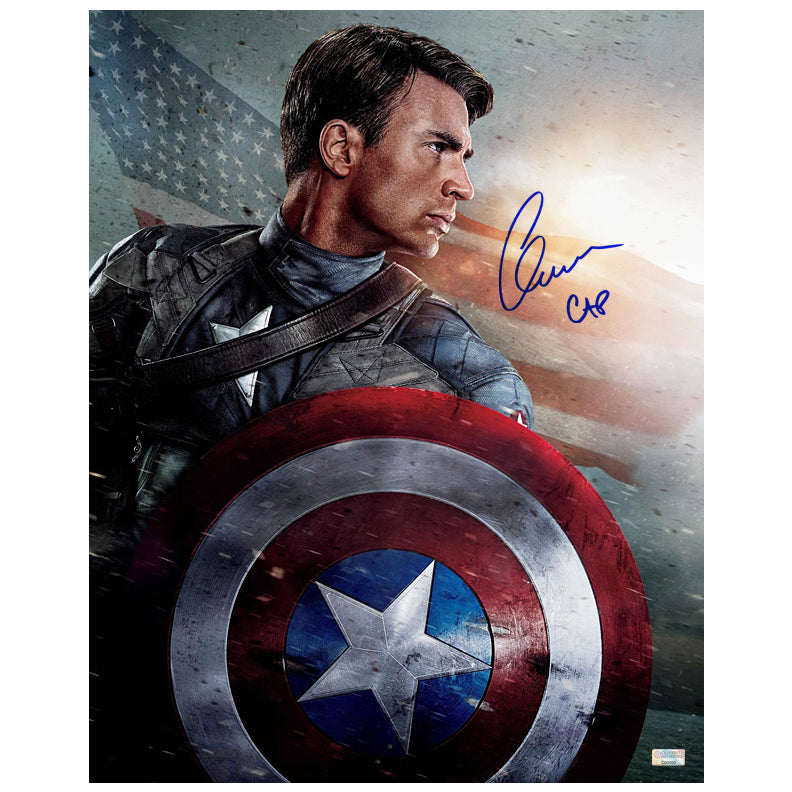 Chris Evans Autographed Captain America The First Avenger 16x20 Photo