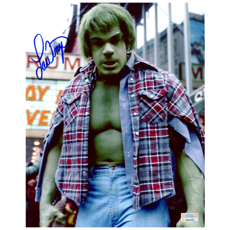 Lou Ferrigno Autographed The Incredible Hulk 8x10 Scene Photo