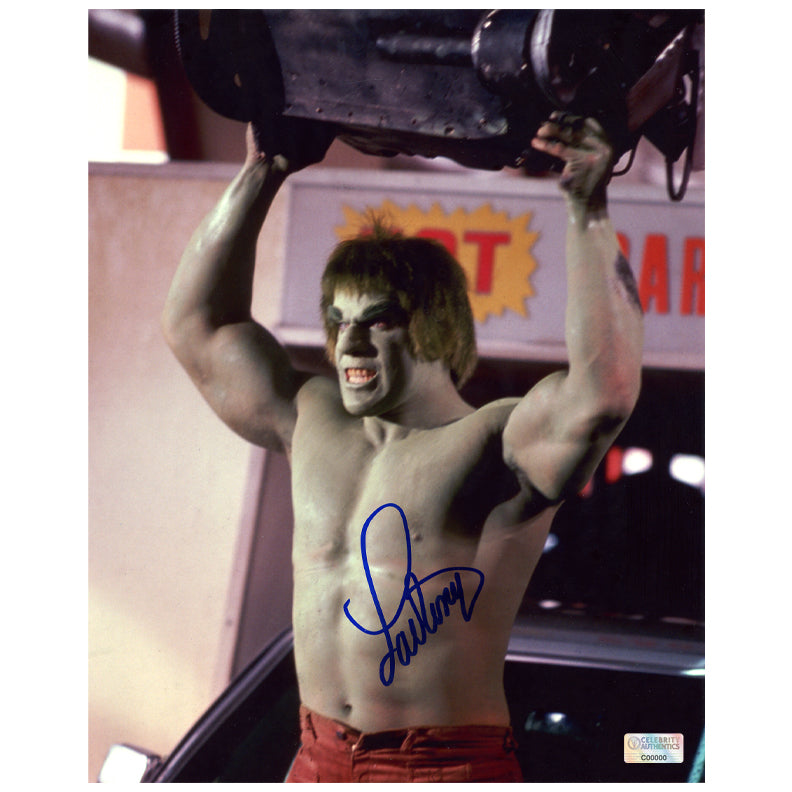Lou Ferrigno Autographed The Incredible Hulk Smash 8x10 Photo
