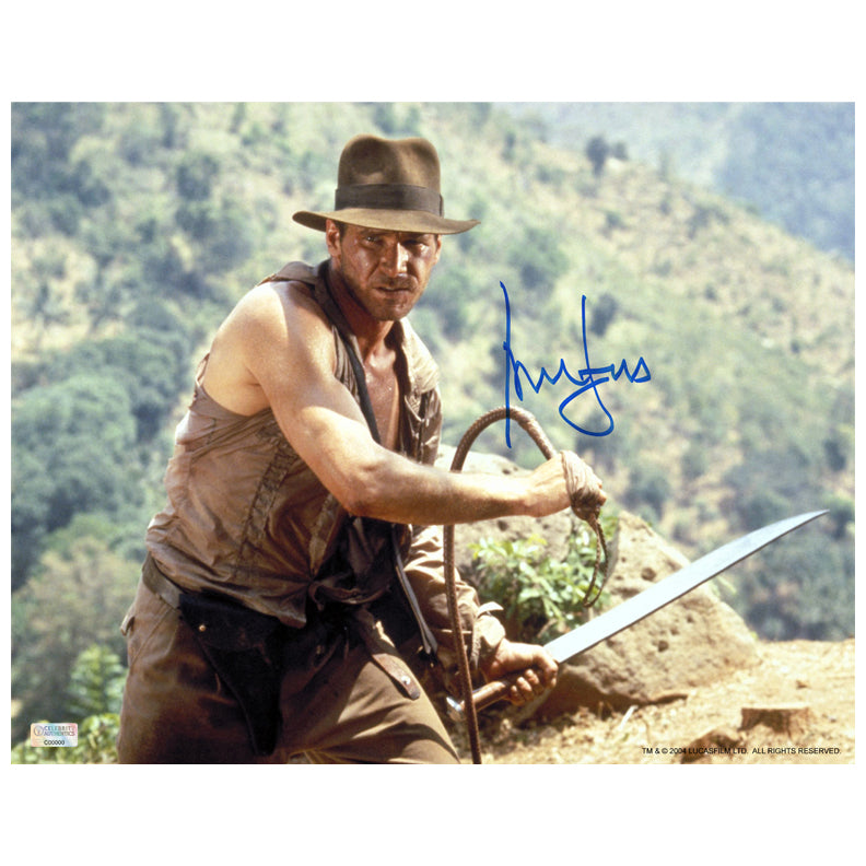 Harrison Ford Autographed Indiana Jones and The Temple of Doom 11x14 Photo