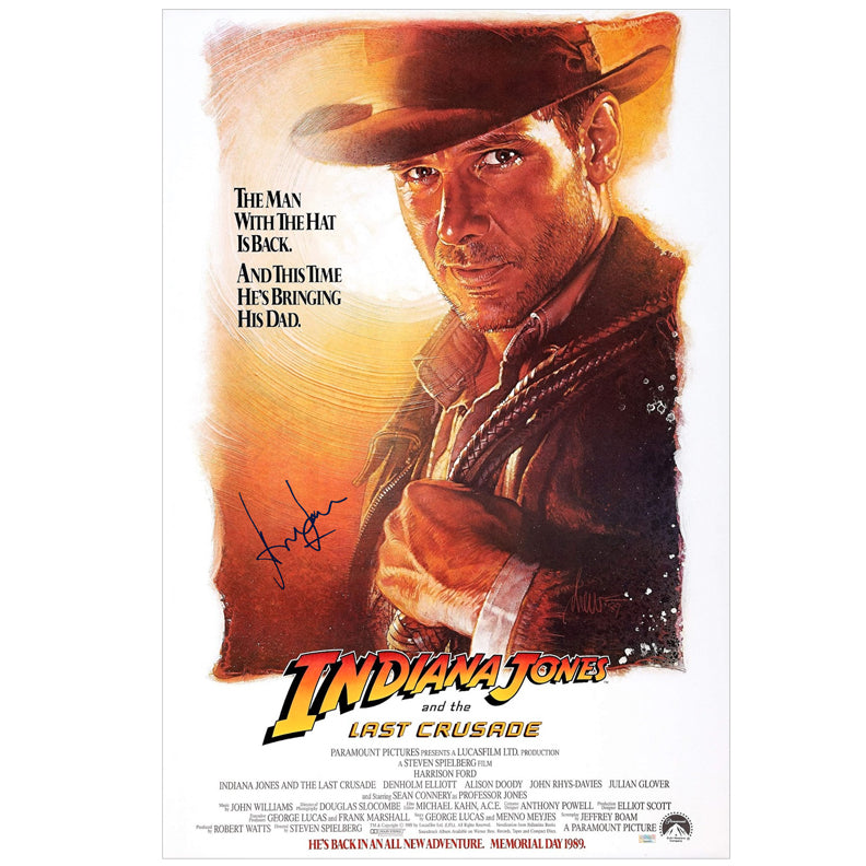 Harrison Ford Autographed Indiana Jones and the Last Crusade 27×40 Poster
