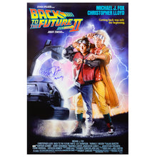 Load image into Gallery viewer, Michael J. Fox Autographed Back to the Future Part II 27x40 Poster