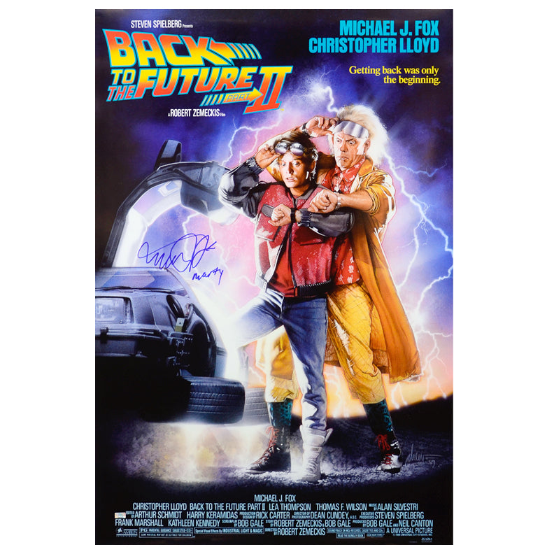 Michael J. Fox Autographed Back to the Future Part II 27x40 Poster