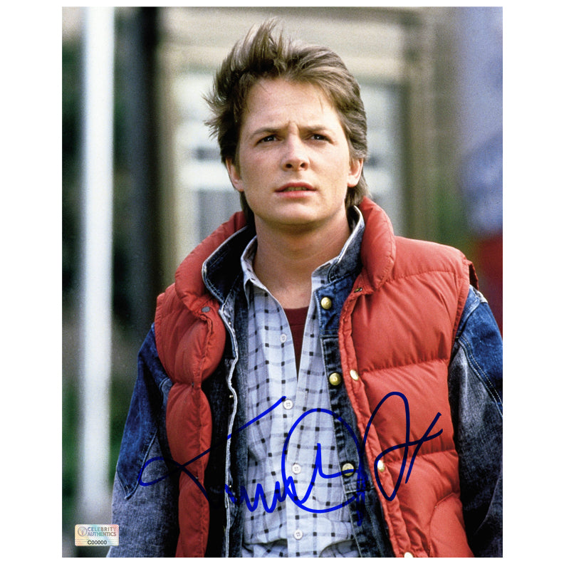 Michael J. Fox Autographed Back to the Future Marty McFly 8x10 Photo