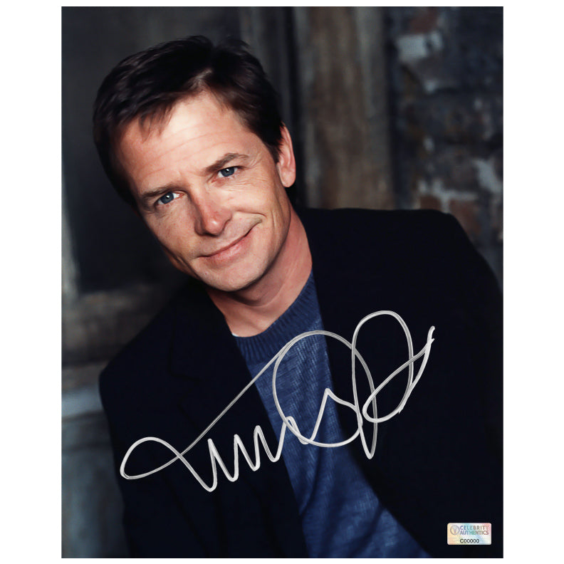 Michael J. Fox Autographed 8×10 Studio Photo