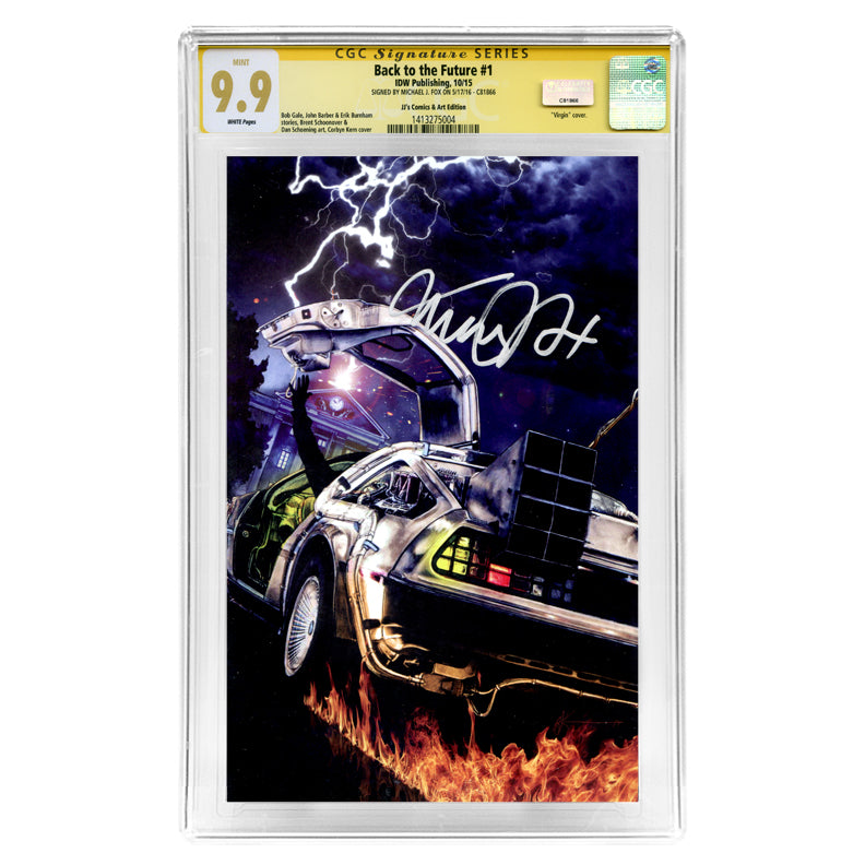 Michael J. Fox Autographed Back to the Future #1 CGC SS 9.9 with Corbyn Kern Variant Cover