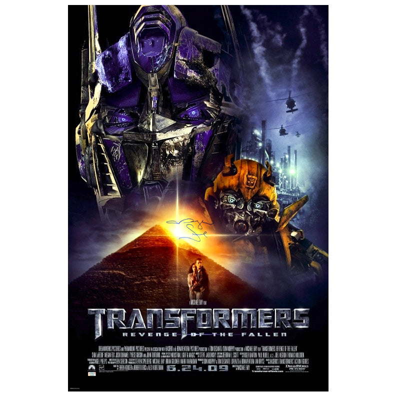 Megan Fox Autographed Transformers Revenge of the Fallen Original 27x40 Single Sided Movie Poster