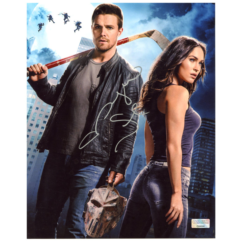Megan Fox Autographed Teenage Mutant Ninja Turtles April O'Neill and Casey Jones 8x10 Photo