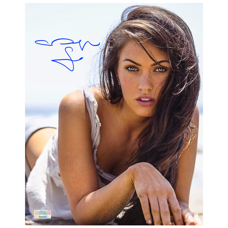 Megan Fox Autographed 8x10 Close Up Photo