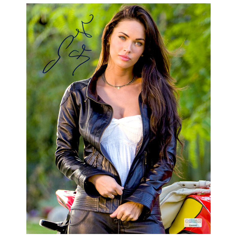 Megan Fox Autographed Transformers Revenge of the Fallen Mikaela 8x10 Photo
