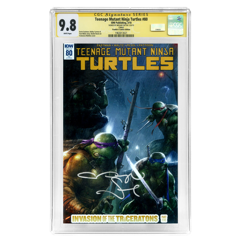 Megan Fox Autographed Teenage Mutant Ninja Turtles #80 CGC SS 9.8