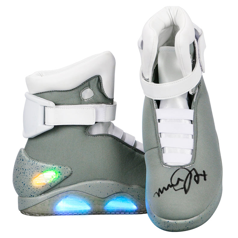 Michael J. Fox Autographed Back to the Future Part II Marty McFly Shoes