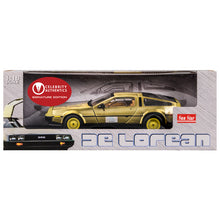 Load image into Gallery viewer, Michael J. Fox Autographed Back to the Future 1:18 Scale Die-Cast Gold DeLorean