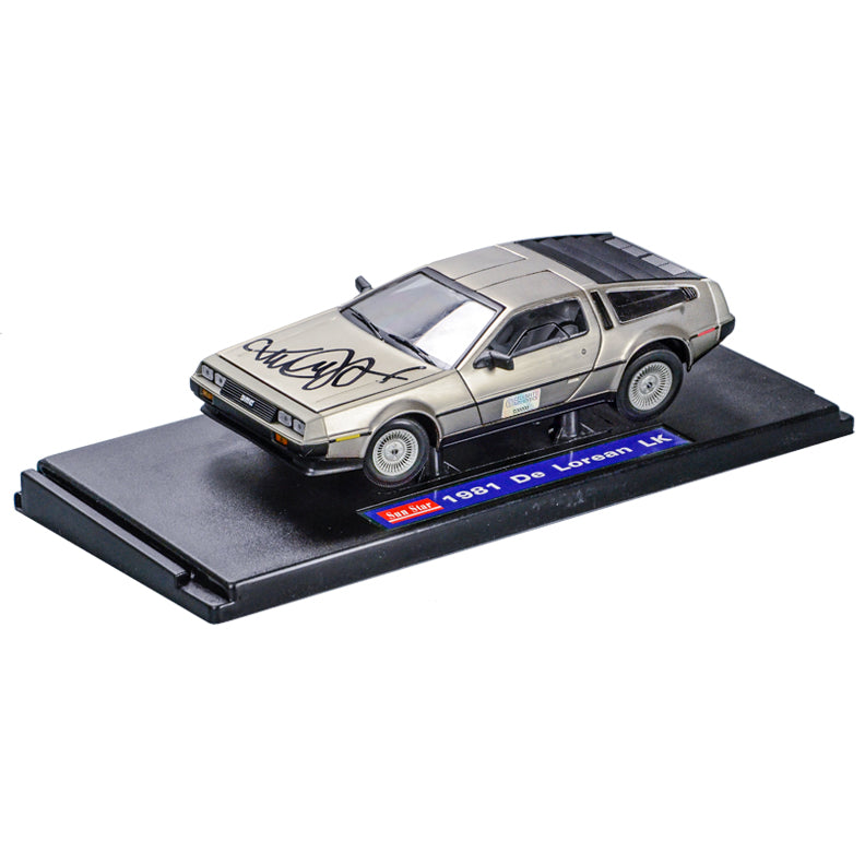 Michael J. Fox Autographed Back to the Future 1:18 Scale Die-Cast DeLorean